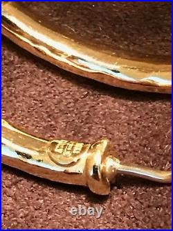 ROBERTO COIN Italian 18k Yellow Gold Martellato Hammered Hoop Earrings