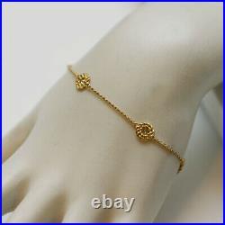 ROBERTO COIN NEW 18K Yellow Gold & Diamond Stations Bracelet Small