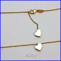 ROBERTO COIN NEW 18K Yellow Gold Princess Double Heart Necklace