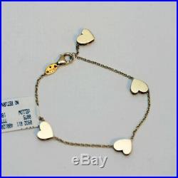 ROBERTO COIN NEW 18K Yellow Gold Princess Heart Amore Bracelet