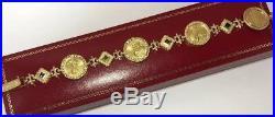 Rare 14k 22k Yellow Gold US Liberty American Eagle $5 Coin 999 Bullion Bracelet