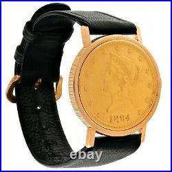 Rare CHATELAIN 18K Coin 10 Dollars Watch, Ref. 6068, Cal. F. Piguet 21, 1960s