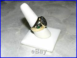 Rare! Mens Alexander The Great Coin 18k Gold Ring