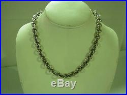 Rare Signed Esti /frederica Sterling Silver 18k Yellow Gold Coin Toggle Necklace