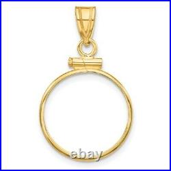 Real 14kt Yellow Gold Polished Screw Top 1/10oz American Eagle Bezel