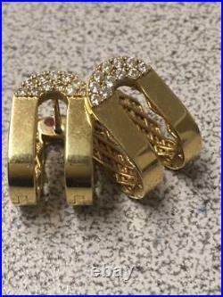 Roberto Coin 18KT GOLD DOUBLE SYMPHONY POIS MOI Diamond EARRINGS