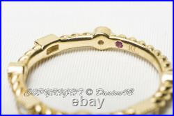 Roberto Coin 18KT Yellow Gold Multi-Shaped Diamond Band Ring Size 6.5