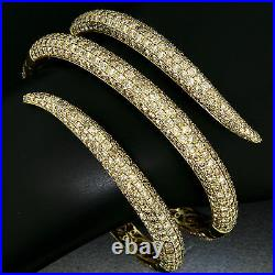 Roberto Coin 18K Gold 18.50ct FANCY Brown Round Diamond Wide Snake Wrap Bracelet