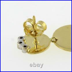 Roberto Coin 18K Triple Disc Elephantino Diamond Dangle Earrings 0.15 CTW DIA