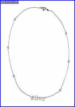 Roberto Coin 18K White Gold 0.49ctw Diamonds By The Inch 18 Station Necklace