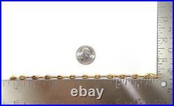 Roberto Coin 18K Yellow Gold 0.30ctw Diamond Bar Oval Link Tennis Bracelet LJF2