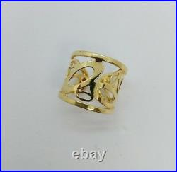 Roberto Coin 18K Yellow Gold Chic and Shine Cuff Ring Size 6.5