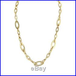 Roberto Coin 18K Yellow Gold Chic and Shine Link Necklace 16 Signed