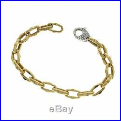 Roberto Coin 18K Yellow Gold Diamond Ruby Link Bracelet Size 7