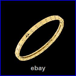 Roberto Coin 18K Yellow Gold Pois Moi Oval Bangle New and Authentic
