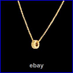 Roberto Coin 18K Yellow Gold Pois Moi Rondel Pendant New and Authentic