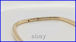 Roberto Coin 18K Yellow Gold Square Bangle Bracelet Box Included