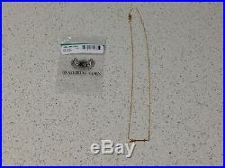 Roberto Coin 18K Yellow Gold Tiny Treasure Arrow Necklace 18-16 inch