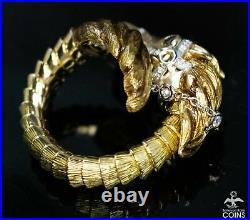 Roberto Coin 18K Yellow / White Gold & 0.32 CTW Diamond Horse Animalier Ring