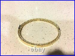 Roberto Coin 18K yellow Gold Symphony Barocco Princess bangle bracelet NEW $2700
