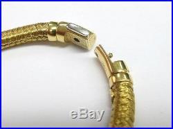 Roberto Coin 18Kt Woven Diamond Bar Bracelet Yellow Gold. 60Ct