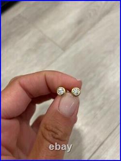Roberto Coin 18k Diamond Bezel Stud