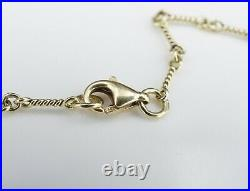 Roberto Coin 18k Gold Diamond 7 Station Dogbone Bar Necklace 18 DBTY NG1052
