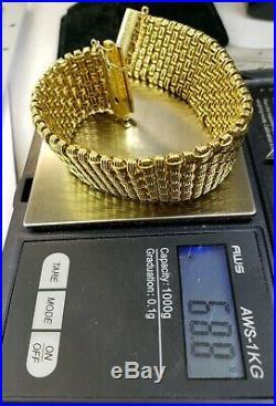 Roberto Coin 18k Y. Gold Diamond Bracelet Heavier Version- lowest price on Ebay