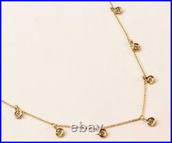 Roberto Coin 18k Yellow Gold Chain 7-station Diamond Dangle Necklace