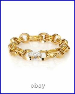 Roberto Coin 18k Yellow Gold Diamond 0.65ct Bracelet 9151159AJLBX