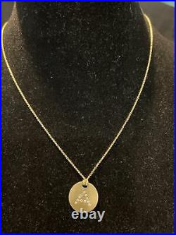 Roberto Coin 18k Yellow Gold Diamond A Letter Initial Disc Necklace Pendant