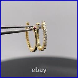 Roberto Coin 18k Yellow Gold Diamond Hoop Earrings New $950