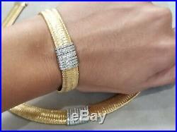 Roberto Coin 18k Yellow Gold Diamond Primavera Bracelet MINT 7 inch Pouch