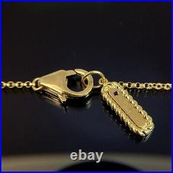 Roberto Coin 18k Yellow Gold Diamond Station Barocco Necklace 18