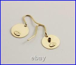 Roberto Coin 18k Yellow Gold Disc I Love You Drop Dangle Hook Earrings
