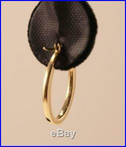 Roberto Coin 18k Yellow Gold Oval Shape 1.0 Inch Drop Hoop Earrings