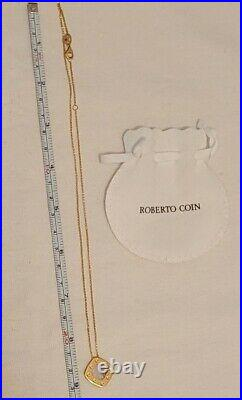 Roberto Coin 18k Yellow Gold Pois Moi Pendant Necklace NWOT Retails $1,390.00