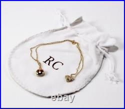 Roberto Coin 18k Yellow Gold Red Enamel Falling In Love Emoji Necklace Pendant