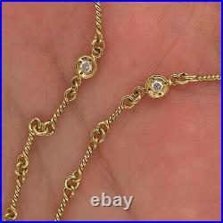 Roberto Coin 18k Yellow Gold Vintage Diamond Necklace 1/3ctw New $4200