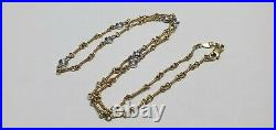 Roberto Coin 18k Yellow gold Dog-Bone 7 Station diamond Necklace 15