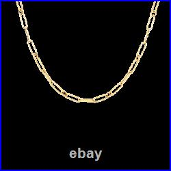 Roberto Coin 18kt yellow gold small paper clip 17 chain