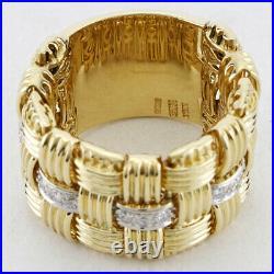 Roberto Coin Appassionata Diamond 18K Yellow Gold Flex Ring