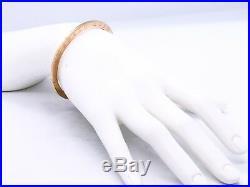 Roberto Coin Bangle Bracelet Italian 18 Karat Pink Gold Ruby Trademark Rare Type