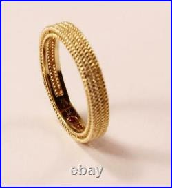 Roberto Coin Barocco 18k Yellow Gold Wedding Band Ring, Size 6.5/t54/uk-n