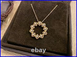 Roberto Coin Barocco Diamond Starburst Necklace 18-Karat Yellow Gold New
