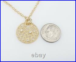 Roberto Coin Bollicine 18k Gold Diamond Fixed Pendant Necklace 16 Toggle NG894