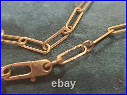Roberto Coin Bracelet 18K Yellow Gold Paper Clip Link with Ruby Size 7
