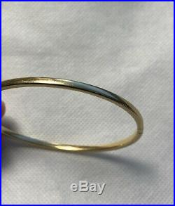 Roberto Coin Bracelet Bangle 18k Yellow Gold with Safety Clasp Added