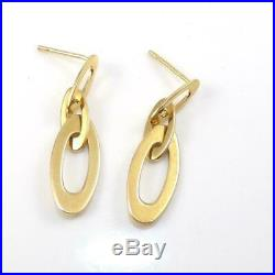 Roberto Coin Chic & Shine 18K Yellow Gold Red Ruby Dangle Earrings LHG2