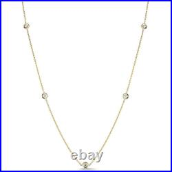 Roberto Coin DIAMONDS BY THE INCH 5 STATION DIAMOND NECKLACE Yellow Gold